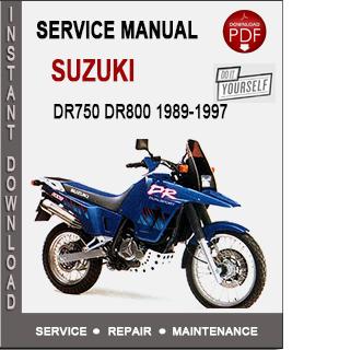 Suzuki DR750 DR800 1989-1997