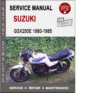 Suzuki GSX250E 1980-1985