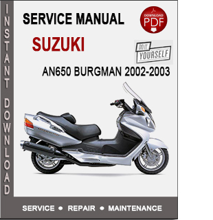 Suzuki AN650 Burgman 2002-2003