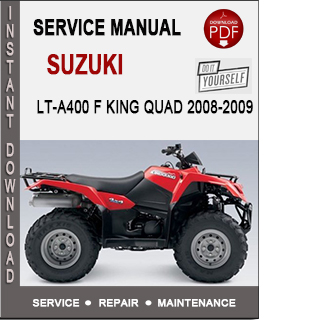 Suzuki LT-A400 F King Quad 2008-2009