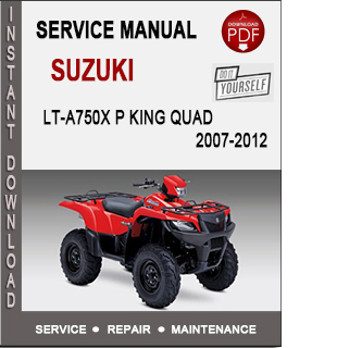 Suzuki LT-A750X P King Quad 2007-2012