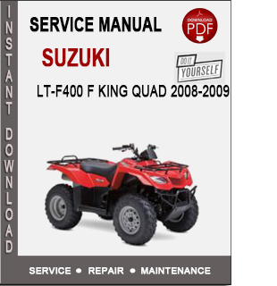 Suzuki LT-F400 F King Quad 2008-2009