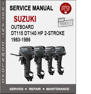 Suzuki Outboard DT115 DT140 HP 2-Stroke 1983-1986