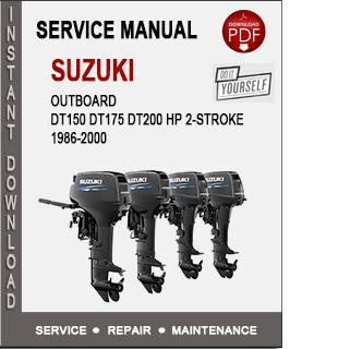 Suzuki Outboard DT150 DT175 DT200 HP 2-Stroke 1986-2000