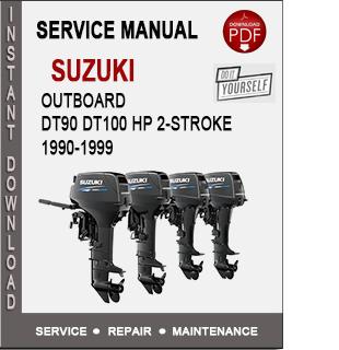 Suzuki Outboard DT90 DT100 HP 2-Stroke 1990-1999